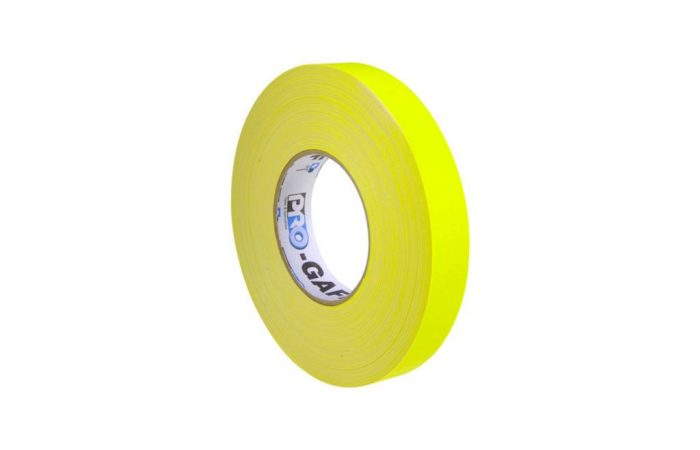 Cinta gaffer amarilla fluorecente 1 pulgadas 55 yardas