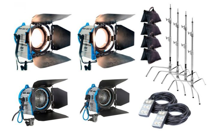 Combo 48 – 4 fresnel + extensiones + tripodes