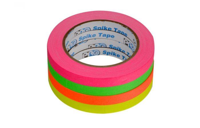 Kit-Pro-Spike-4-cintas-gaffer-fluorecentes
