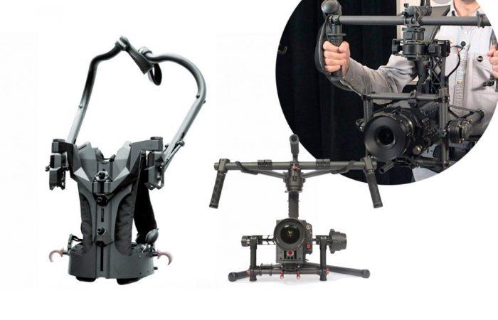 Combo #16 – Exhauss Exoskeleton + Ronin Incluye: – Exhauss Exoskeleton – DJI Ronin – Operador    No incluye:  – Cámara