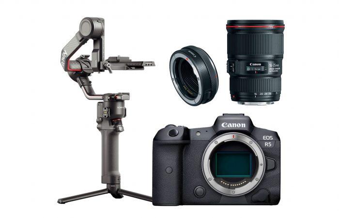 Combo E01 – Canon R5 + Ronin RS2 + Lente 16-35 Alquiler
