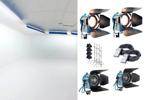 Combo 65 – Estudio + 3 luces Fresnel alquiler