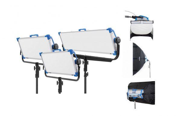 Combo 44 – 3 luces LED ARRI Skypanel + 3 Chimeras alquiler