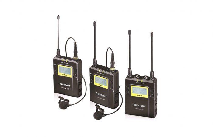 Micrófono Saramonic 2 transmisors 1 receptor alquiler