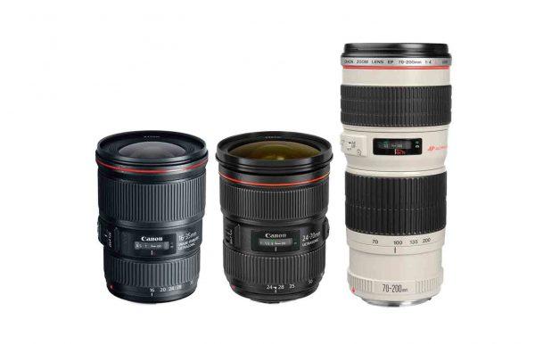 A Óptica Canon 3 lentes luminosos f/2.8 alquiler
