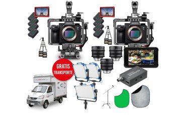 Combo TC 07 - 2 A7III + 3 XEEN CF + 3 Skypanel + capturadora + Grabador Switcher alquiler