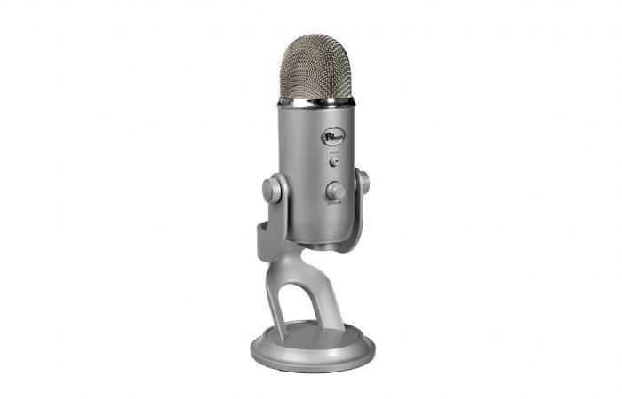 Micrófono Blue Yeti USB plateado