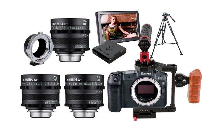 Combo C01 – Canon R5 + Xeen CF 3 lentes PL alquiler