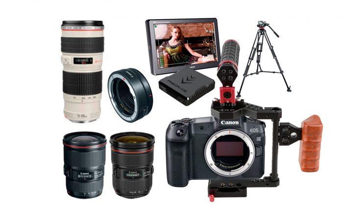 Combo C03 – Canon R5 + Kit 3 lentes Canon F/2.8 alquiler