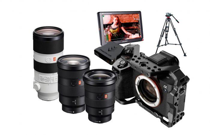 – 1 lente Sony FE 24-70mm f/2.8 GM – 1 lente Sony FE 16-35mm f/2.8 GM – 1 lente Sony FE 70-200mm f/2.8 GM OSS